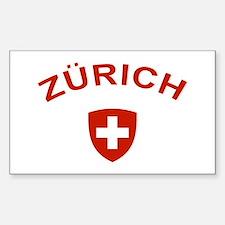 Zurich Sticker (Rectangle)