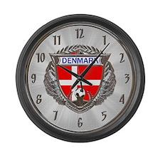 Denmark Soccer Large Wall Clock