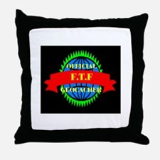FTF GREEN/BLACK Throw Pillow