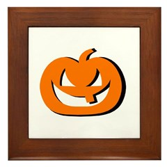 halloween pumkin Framed Tile