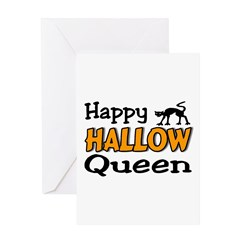 happy hallow queen Greeting Card