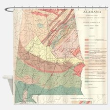 Vintage Agricultural Map of Alabama Shower Curtain