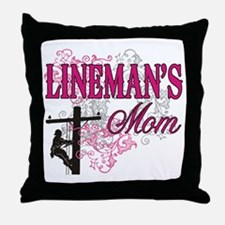 Lineman's Mom Throw Pillow