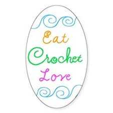Eat Crochet Love Decal