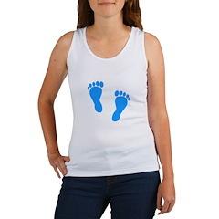 Blue Footprints (Boy, Due Dat Women's Tank Top