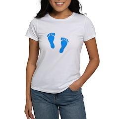 Blue Footprints (Boy, Due Dat Women's T-Shirt