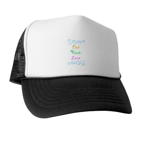 Eat Knit Love Trucker Hat