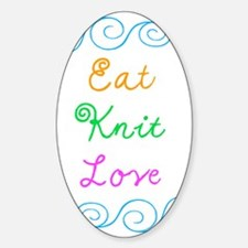 Eat Knit Love Decal