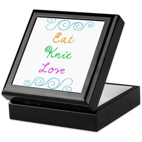 Eat Knit Love Keepsake Box