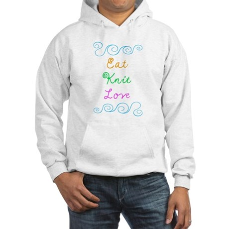 Eat Knit Love Hooded Sweatshirt