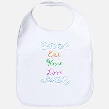 Eat Knit Love Bib