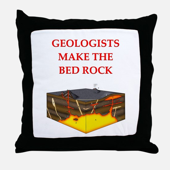 i love geology Throw Pillow