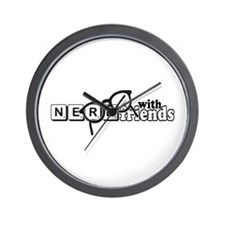 Nerd with Friends Wall Clock