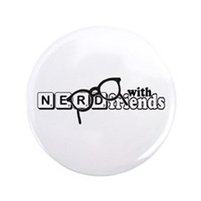 "Nerd with Friends 3.5"" Button (100 pack)"