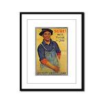Finish the Job Poster Art Framed Panel Print
