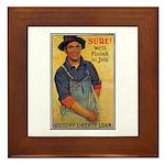 Finish the Job Poster Art Framed Tile