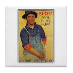 Finish the Job Poster Art Tile Coaster