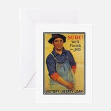 Finish the Job Poster Art Greeting Cards (Package