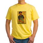 Finish the Job Poster Art Yellow T-Shirt