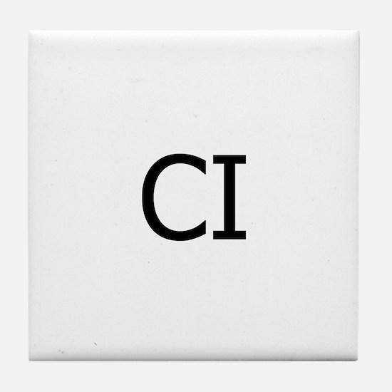CI Logo Tile Coaster