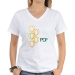 PDF's Women's V-Neck T-Shirt