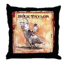 The Bull Rider Throw Pillow