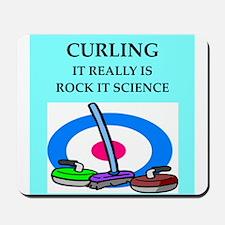 i love curling Mousepad