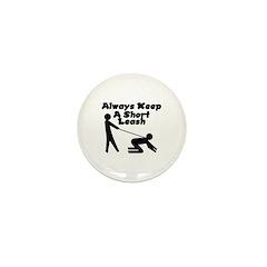 Short Leash Mini Button (10 pack)