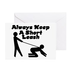 Short Leash Greeting Cards (Pk of 10)
