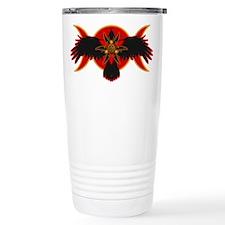 Crow Triple Goddess - Red Travel Mug