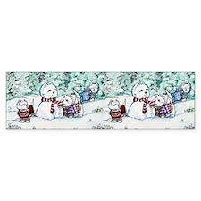 Winter Westie Snowman Bumper Sticker