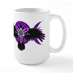 Crow Triple Goddess - Purple Large Mug