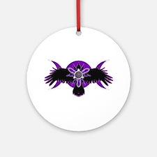 Crow Triple Goddess - Purple Ornament (Round)