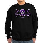 Crow Triple Goddess - Purple Sweatshirt (dark)