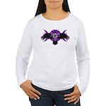 Crow Triple Goddess - Purple Women's Long Sleeve T