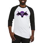 Crow Triple Goddess - Purple Baseball Jersey