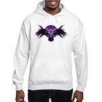 Crow Triple Goddess - Purple Hooded Sweatshirt