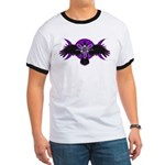 Crow Triple Goddess - Purple Ringer T