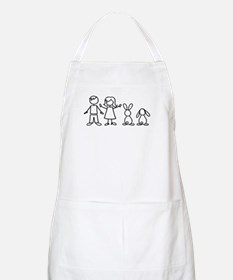 2 bunnies family Apron