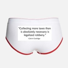 Calvin Coolidge Quote taxes Women's Boy Brief