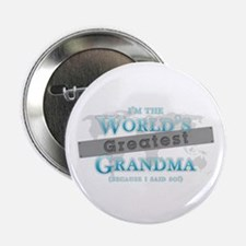 "Cute When a baby is born so is a grandma 2.25"" Button (100 pack)"
