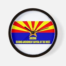 Arizona 2nd Amendment Capital Wall Clock