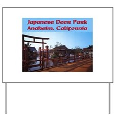 Japanese Deer Park Yard Sign
