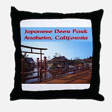 Japanese Deer Park Throw Pillow