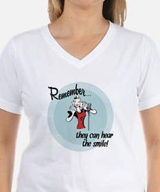 They can hear the smile! Shirt