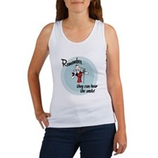They can hear the smile! Women's Tank Top