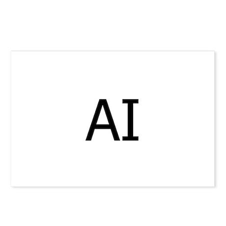 AI Assateague Island Logo Postcards (Package of 8)