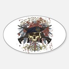 Security Forces Skull Urban I Sticker (Oval)