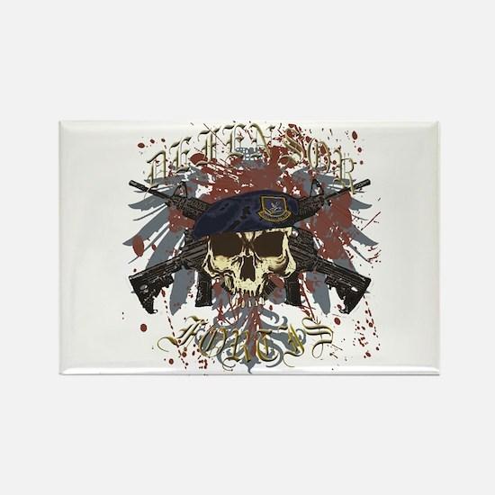 Security Forces Skull Urban I Rectangle Magnet
