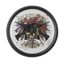Security Forces Skull Urban I Large Wall Clock